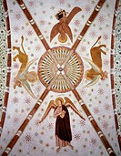 Frescoes from the Duomo or the Cathedral Basilica of the Assumption of the Blessed Virgin Mary, Lodi. Italy, 12th-13th century.