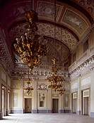 Detail of the ballroom, Villa Reale, Monza, by architect Giuseppe Piermarini (1773-1780). Italy, 18th century.