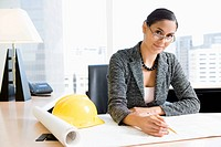Woman Architect at Her Desk
