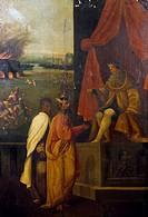 Wooden table with sacred subjects, ca 1540, by Marcello Fogolino (born between 1483-1488, died 1548), Palazzo Lantieri, Gorizia, Friuli-Venezia Giulia...