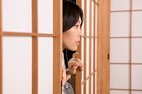 Woman Entering Japanese Style Room
