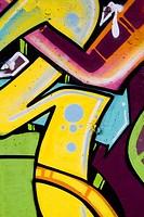 Colorful Graffiti wall urban art hip hop background, writting