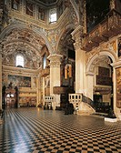 Left transept of Santa Maria Maggiore Basilica, Bergamo. Italy, 12th-17th centuries.