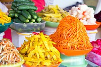 various Korean pickled vegetables
