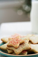 Star shaped sugar cookies