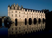 View of Chateau de Chenonceau. France, 16th century, Loire Valley (UNESCO World Heritage List, 2000). France.