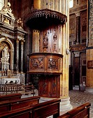 Pulpit of the Cathedral of Novara, architect Alessandro Antonelli (1798-1888). Italy, 19th century.