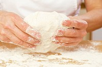 Kneading dough