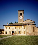 Parish church of San Michele Arcangelo, Roncole Verdi, near Busseto, Emilia-Romagna. Italy, 16th-17th century.
