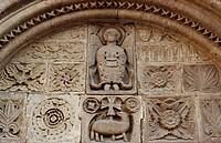 Agnus Dei, relief from the tympanum of the St-Michel Chapel?, Salon-de-Provence, Provence-Alpes-Cote d'Azur. France, 13th century.