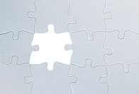Jigsaw puzzle close up