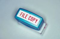 File Copy Rubber Stamp from Above