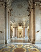 Entrance gallery and vestibule on the first floor, by architect Luigi Vanvitelli 1700_1773, Royal Palace of Caserta UNESCO World Heritage List, 1997, ...
