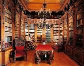 Library room, ground floor, Revoltella Museum (Palazzo Revoltella), Trieste, Friuli-Venezia Giulia. Italy, 19th century.