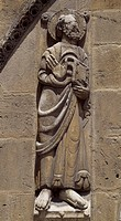 Entrance decoration of the Basilica of San Isidoro, Leon, Castile and Leon. Detail. Spain, 11th-12th century.