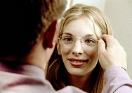 Girl Being Fitted for Glasses