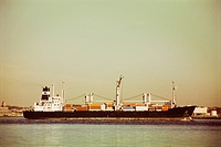 Freight Ship with Containers