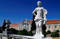 Statue in the garden of Queluz National Palace. Portugal, 18th century.