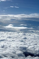 Clouds seen from aircraft