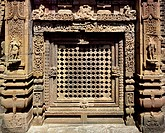 Detail of the decoration of the Muktesvara Temple in Bhubaneswar, Orissa State, India. Indian civilization, 10th century.