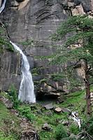 Jogini waterfall , Nehru kund , Manali , Himachal Pradesh , India