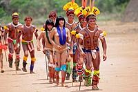 Kalapalo Indios, Mato Grosso, Brazil, South America