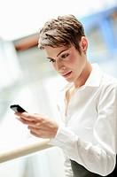 Czech Republic, Woman texting