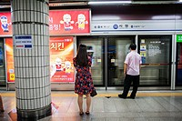 Underground Metro,City Hall Station,line 1, Seoul, South Korea