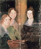 Portrait of Anne Bronte (Thornton, 1820 - Scarborough, 1849), Emily Bronte (Thornton, 1818 - Haworth, 1848) and Charlotte Bronte (Thornton, 1816 - Haw...