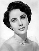Taylor, Elizabeth, Liz, 27.2.1932 _ 23.3.2011, American actress, portrait, 1950s,
