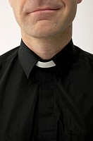 Priest Wearing Clerical Collar