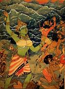 Hinduism , hindu art , himalayan academy art , religion , spirituality , artist S. Rajam , shakti , himalayas , warrior