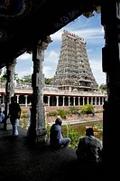 Sri Meenakshi Amman temple ; Madurai ; Tamil Nadu ; India