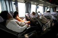 Bus passengers travelling between Haridwar to New Delhi ; India
