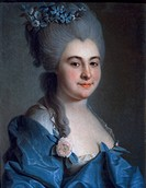 Portrait of a lady, by Dmitry Levitsky (1735-1822), pastel on paper.  Rome, Museo Di Palazzo Venezia (Palazzo Venezia Museum)