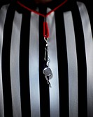 Referee Wearing Whistle