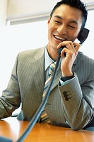 Businessman laughing