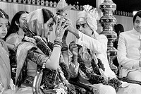 Wedding ceremony of Nita Ambani and Mukesh Ambani son of Dhirubhai Ambani the owner of Reliance industries ; Bombay now Mumbai ; Maharashtra ; India N...