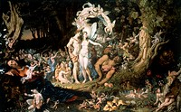 Reconciliation of Oberon and Titania, by Noel Paton (1821-1901).  Edinburgh, National Gallery Of Scotland
