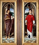 St John the Baptist and St Lawrence, by Hans Memling (ca 1430-1494).  London, National Gallery