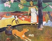 Tahitian pastorals, 1892, by Paul Gauguin (1848-1903).  San Pietroburgo, Gosudarstvennyj Muzej Ermitaj