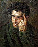 Portrait of Lord Byron, by Jean-Louis Theodore Gericault (1791-1824).  Montpellier, Musée Fabre (Picture Gallery)