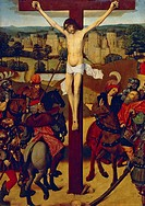 Crucifixion, Flemish painting 15th century