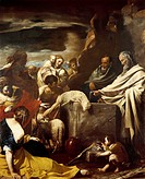 Sacrifice of Moses, by Massimo Stanzione 1585_1656, oil on canvas, 288x225 cm