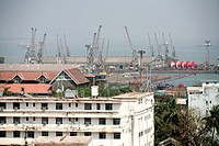 View of Bombay port trust , Bombay now Mumbai , Maharashtra , India