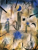 The sirens of ships, 1917, by Paul Klee (1879-1940).  Stuttgard, Staatgalerie (Art Gallery), Graphische Sammlung (Drawings Collection)