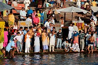 Shooting of a documentary at Har Ki Pauri , Haridwar , Uttar Pradesh , India