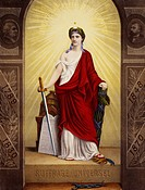 Universal suffrage, 1870, Allegory of the French Republic. France, 19th Century.  Paris, Hôtel Carnavalet (Art Museum)