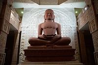 Nareli Jain temple ; statue of Mahavir at Ajmer ; Rajasthan ; India