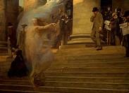 Luck passing by, 1903, by Albert Maignan (1845-1908).  Rheims, Musée Des Beaux-Arts